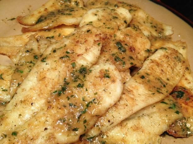 Easy pan fried sole fish with lemon butter sauce recipe for Pan fried fish fillet recipes