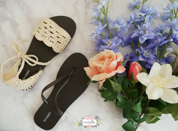 35d21ffa4ae500 Crochet Spring Sandals with Flip Flop Soles PATTERN pdf instant digital  download shoes flats accessories handmade