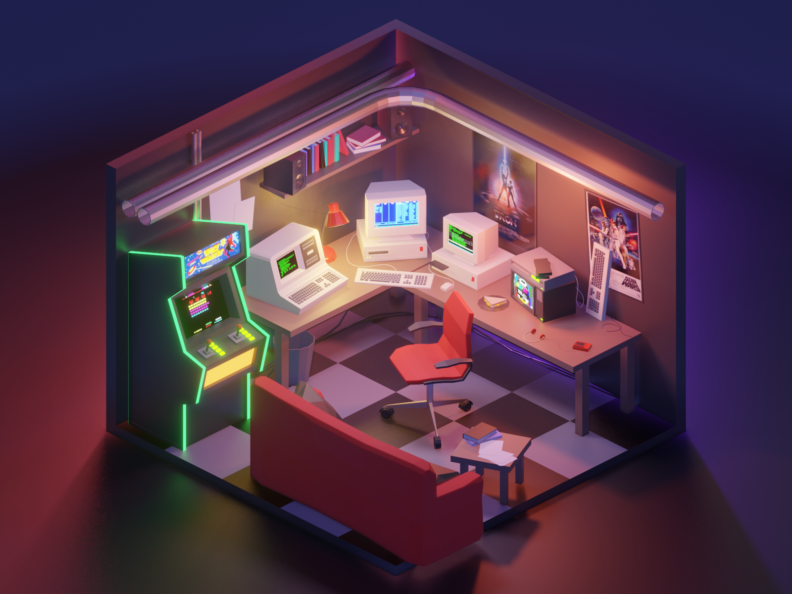 Becoming A Content Creator In 2020 Game Room Design Isometric Design Isometric Art