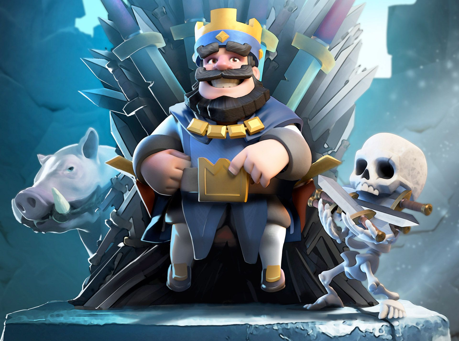4k Clash Royal Clash Royale Blue King Hd Hd Games 4k Wallpapers Images Clash Royale Wallpaper Royal Wallpaper Clash Royale