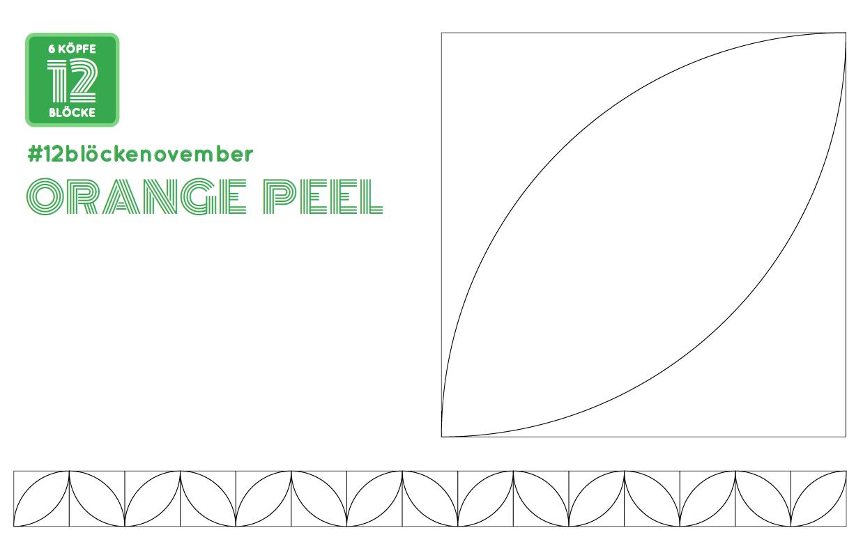 Orange Peel Ausmalbild Sewing 6 Köpfe 12 Blöcke Pinterest