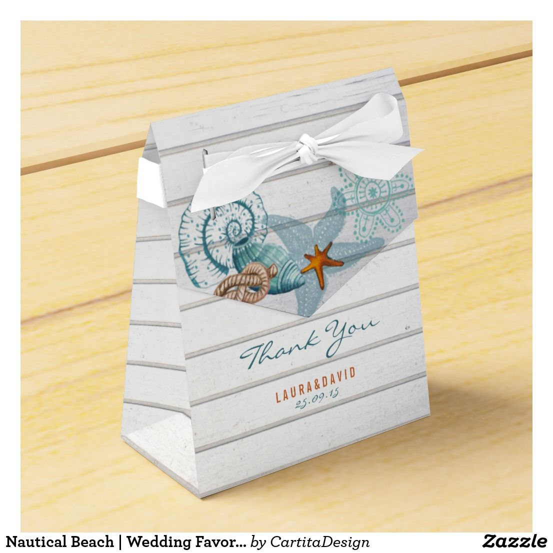 Nautical Beach | Wedding Favor Box | Wedding Favors | Pinterest ...