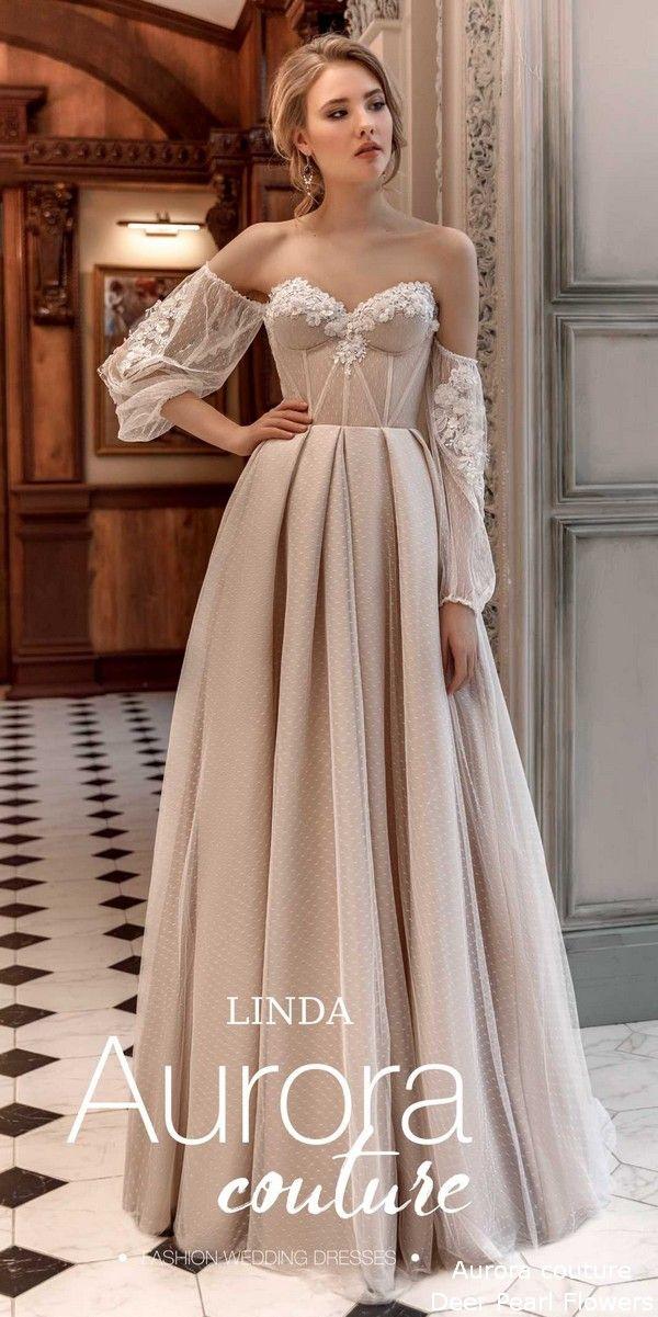 00594b115c Aurora couture Eussian Glory 2019 Wedding Dresses Linda #wedding  #weddingideas #dresses #deerpearlflowers #weddingdresses