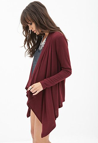 Draped Knit Cardigan | FOREVER21 - 2000060930