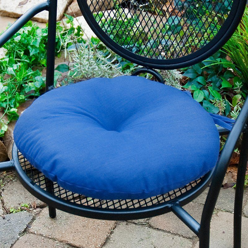 Greendale Home Fashions 15 In Round Outdoor Bistro Chair Cushion Set Of 2 Round Chair Cushions Bistro Chairs Bistro Chairs Outdoor