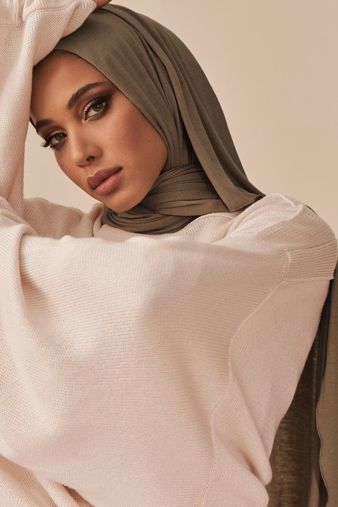 Small Shimmer Jersey HIjab-Nude