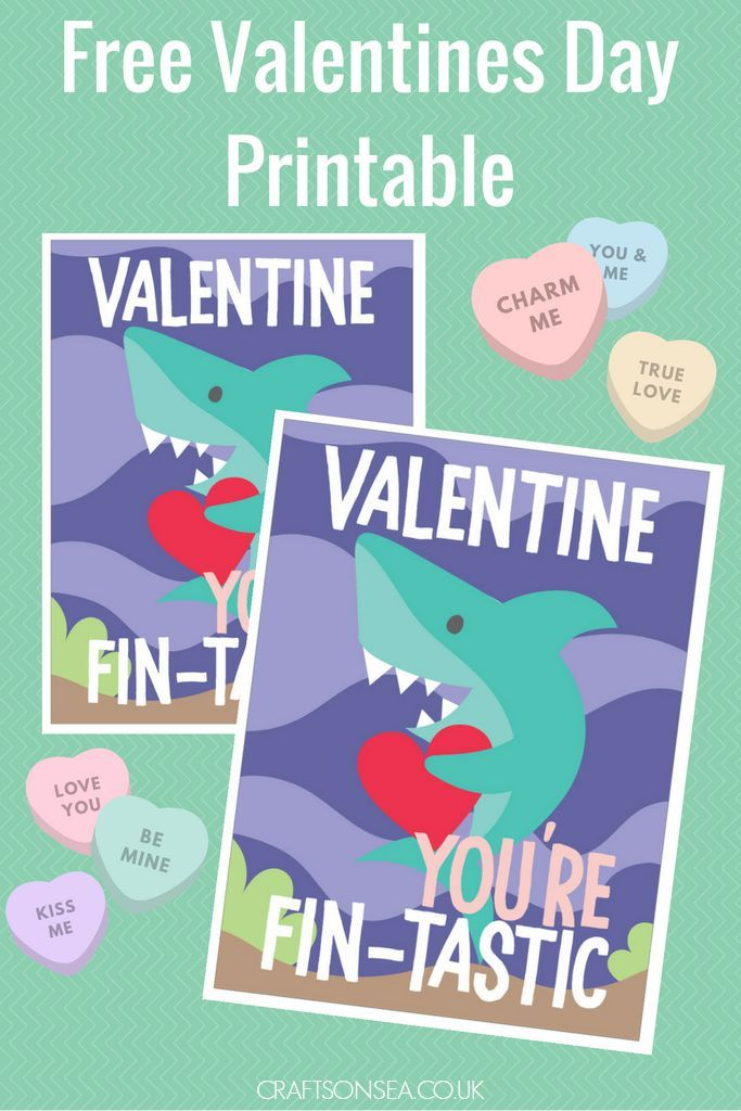 Free Shark Valentines Day Printable | Pinterest | Shark, Free and ...