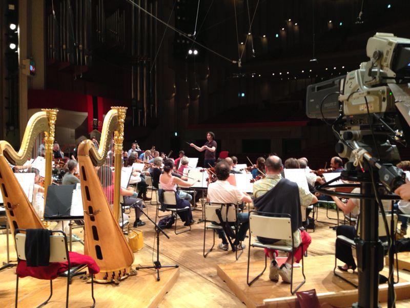#ScalaTourJapan - 16/09/2013 - Tokyo NHK Hall - Gustavo Dudamel - Orchestra rehearsal http://www.teatroallascala.org/en/season/tours/2012-2013/japan/orchestra-teatro-alla-scala_1.html