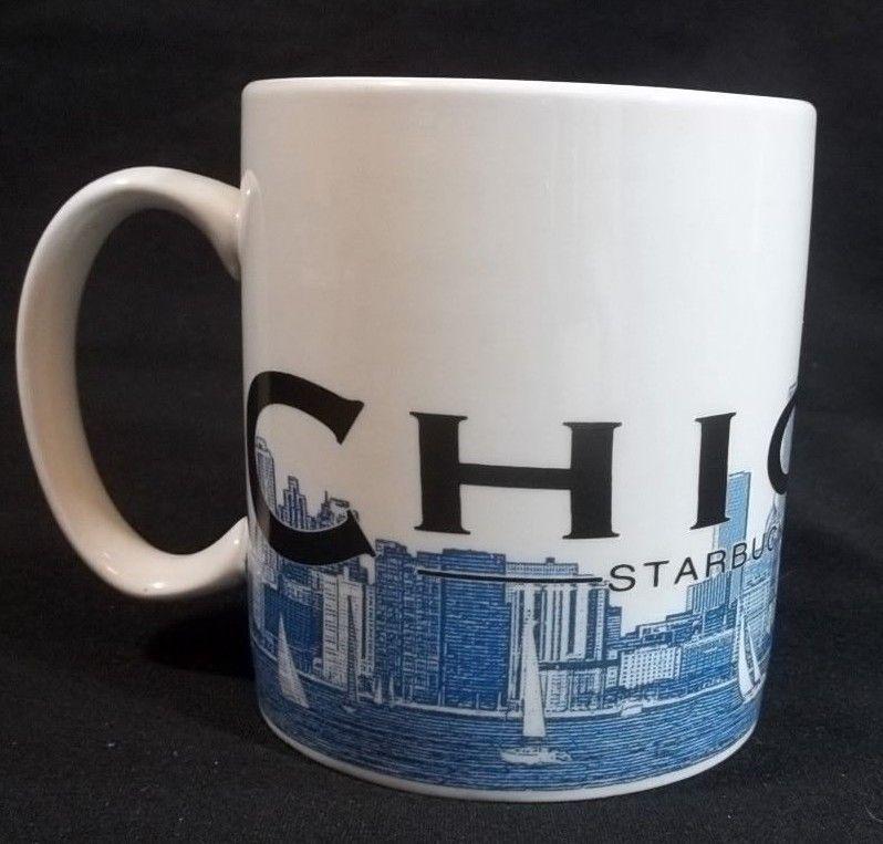 350b94ba921 Starbucks Skyline Series Chicago Cup Mug 2002 Barista Windy City 18 Oz # Starbucks