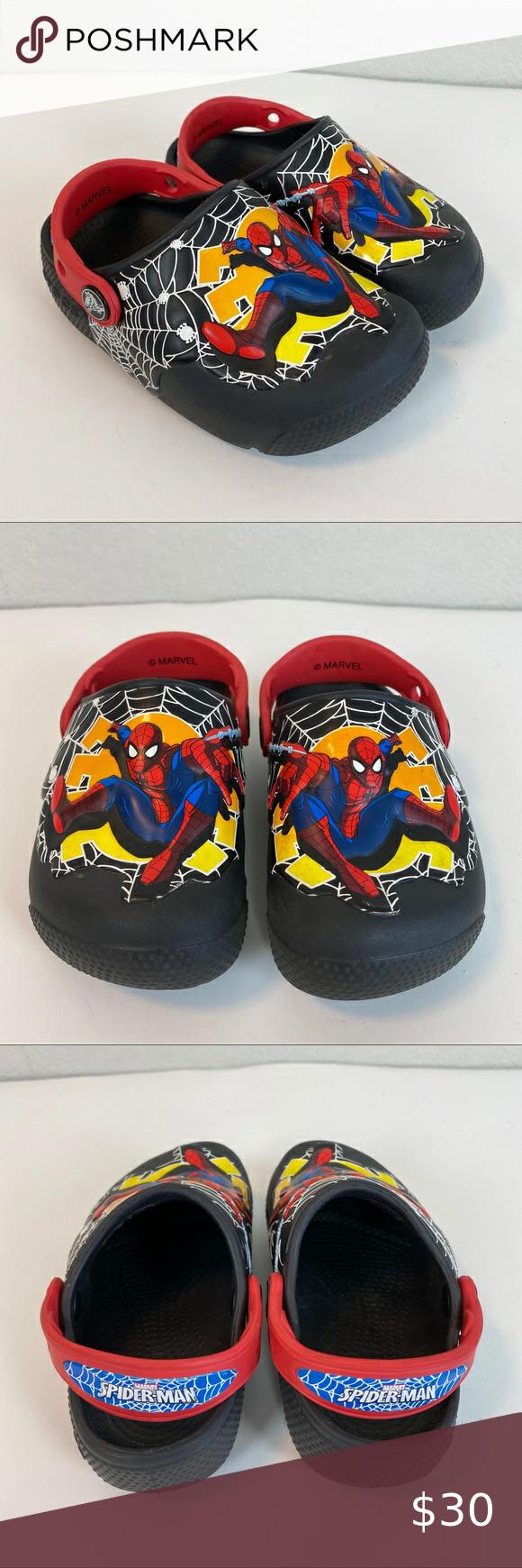 Crocs Spiderman Light Up Clogs Shoes