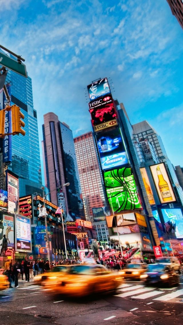 Times Square New York Iphone Wallpapers Fond D Ecran New York