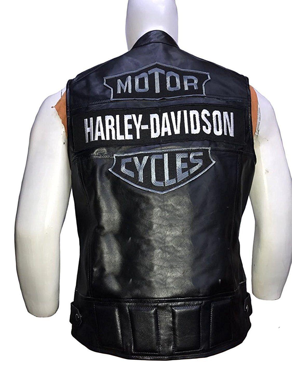 Wwe Bill Goldberg Harley Davidson Passing Link Leather Vest Leather Jackets For Men Amazon Best Seller Leather Jacket Men Mens Jackets Leather Vest