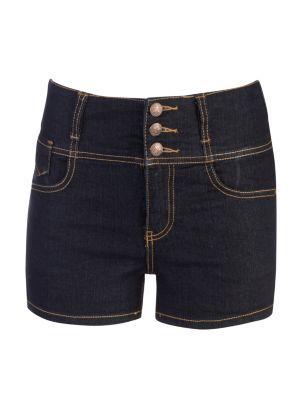 Blue Denim High Waisted Shorts