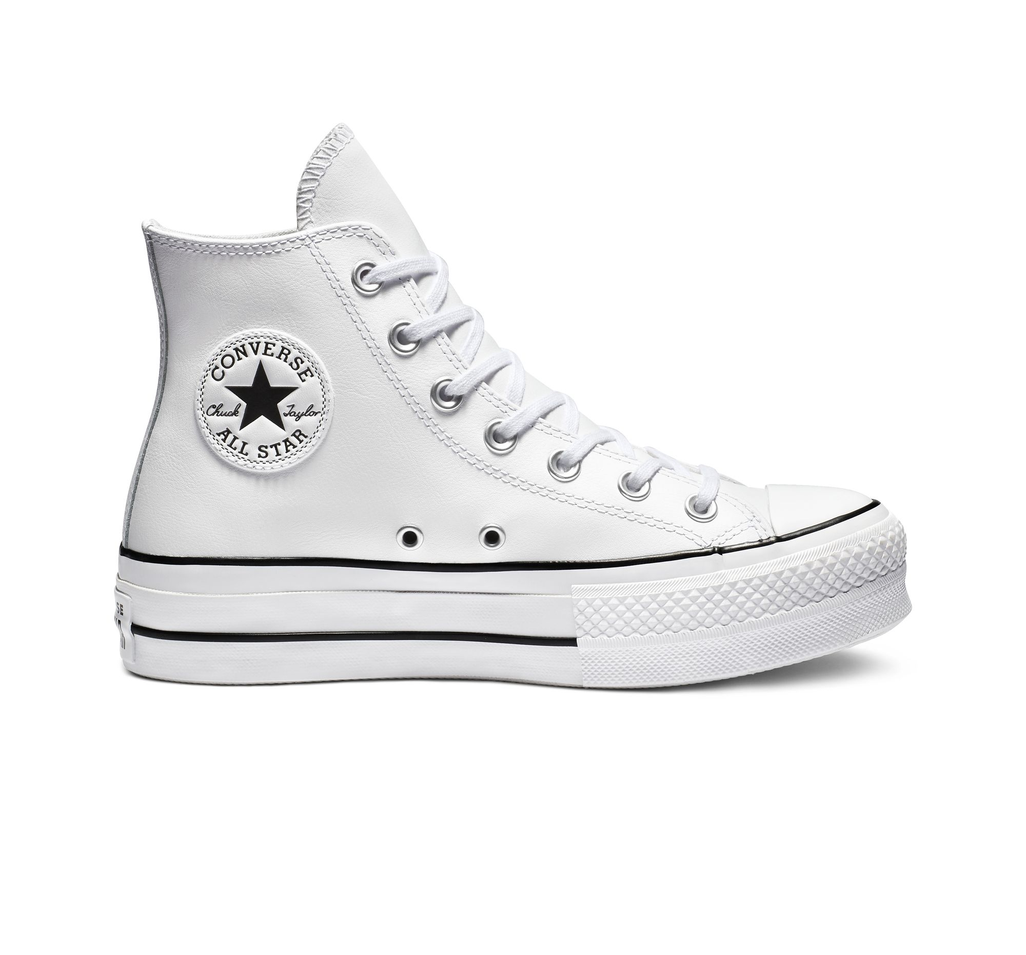 CONVERSE ALL STAR CHUCK TAYLOR LIFT CLEAN LEATHER PLATEFORME CUIR