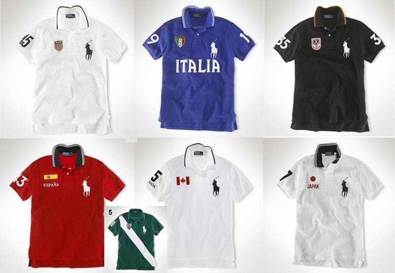 Polo Big Flag Wholesale Pony Mens Shirts Ralph Sleeve Lauren Short 9D2EHWI