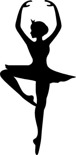 Ballerina silhouette ballerina silhouette decal for Schattenbilder selber machen