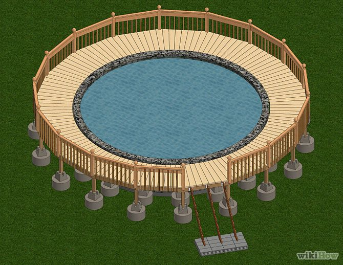 Build A Deck Around An Above Ground Pool With Images