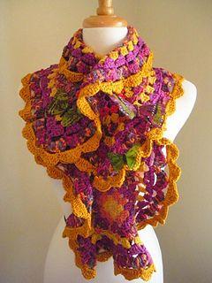 Spring-crafts-colorful-scraves-free-crochet-patterns-make-handmade- ╭⊰✿Teresa Restegui http://www.pinterest.com/teretegui/✿⊱╮