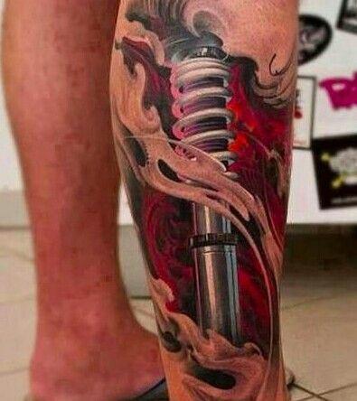 Biomecánico Amortiguador En Gemelo 3d Tatoos Tatuajes