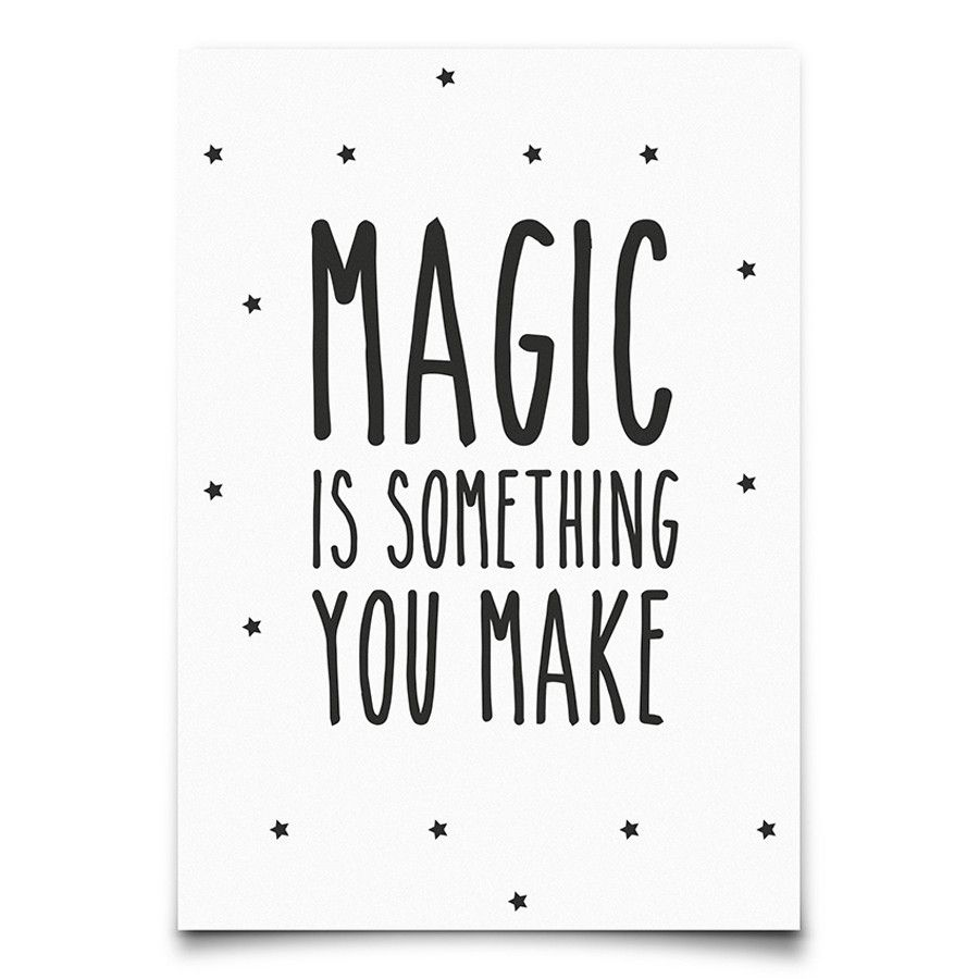 954cdade660 eef lillemor | make magic | Words & Graphics | Poster, Poster prints ...