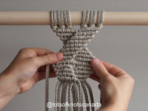 DIY Macrame Tutorial - Geometric Pattern #2