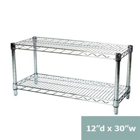 12d x 30w Chrome Wire Shelving with 2 Shelves -- Be sure to check out this awesome product.