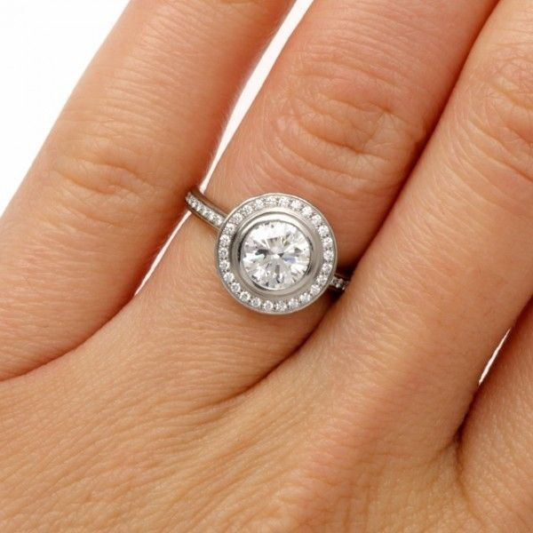 Cartier D Amour Diamond Platinum Engagement Ring Image 5 Jewelry