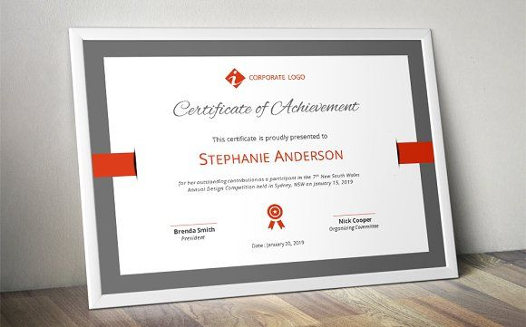 Elegant certificate template (docx) Certificate, Template and Logos