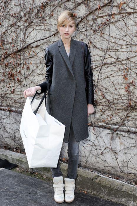 #isabel marant #sneakers #grey