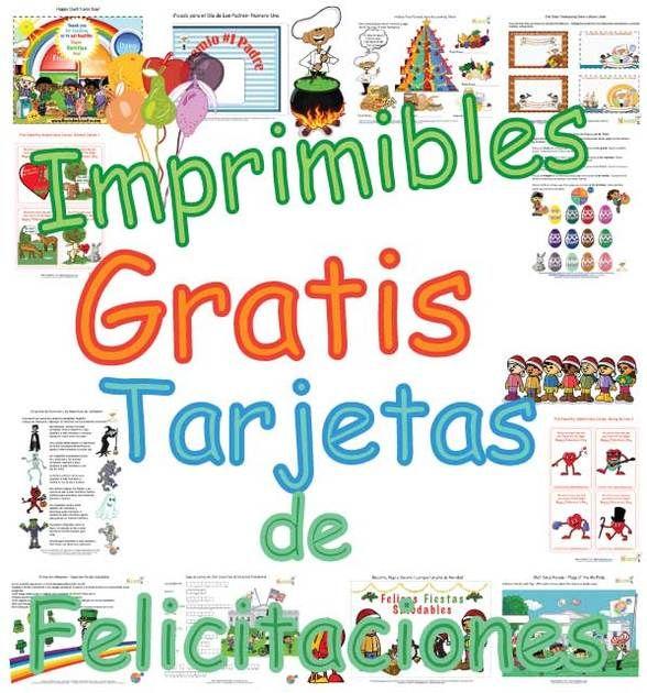 Tarjetas de Felicitaciones Imprimibles Gratis Para los Niños Hacer ...
