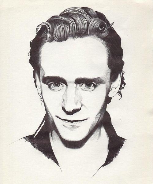 e3408ecce76 Tom Hiddleston. Ballpoint pen. Tumblr.  http   federicatheglitterprincess.tumblr.