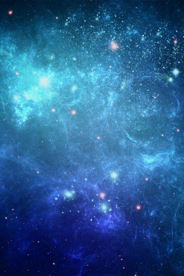Iphone X Blue Stars Wallpaper