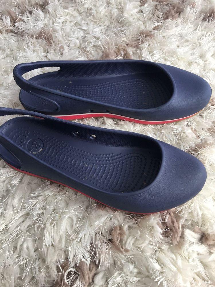 0ddcb8e2c67f CROCS Womens Navy Blue Slingback Slip On Flats Shoes Size 7 M  fashion   clothing  shoes  accessories  womensshoes  flats (ebay link)