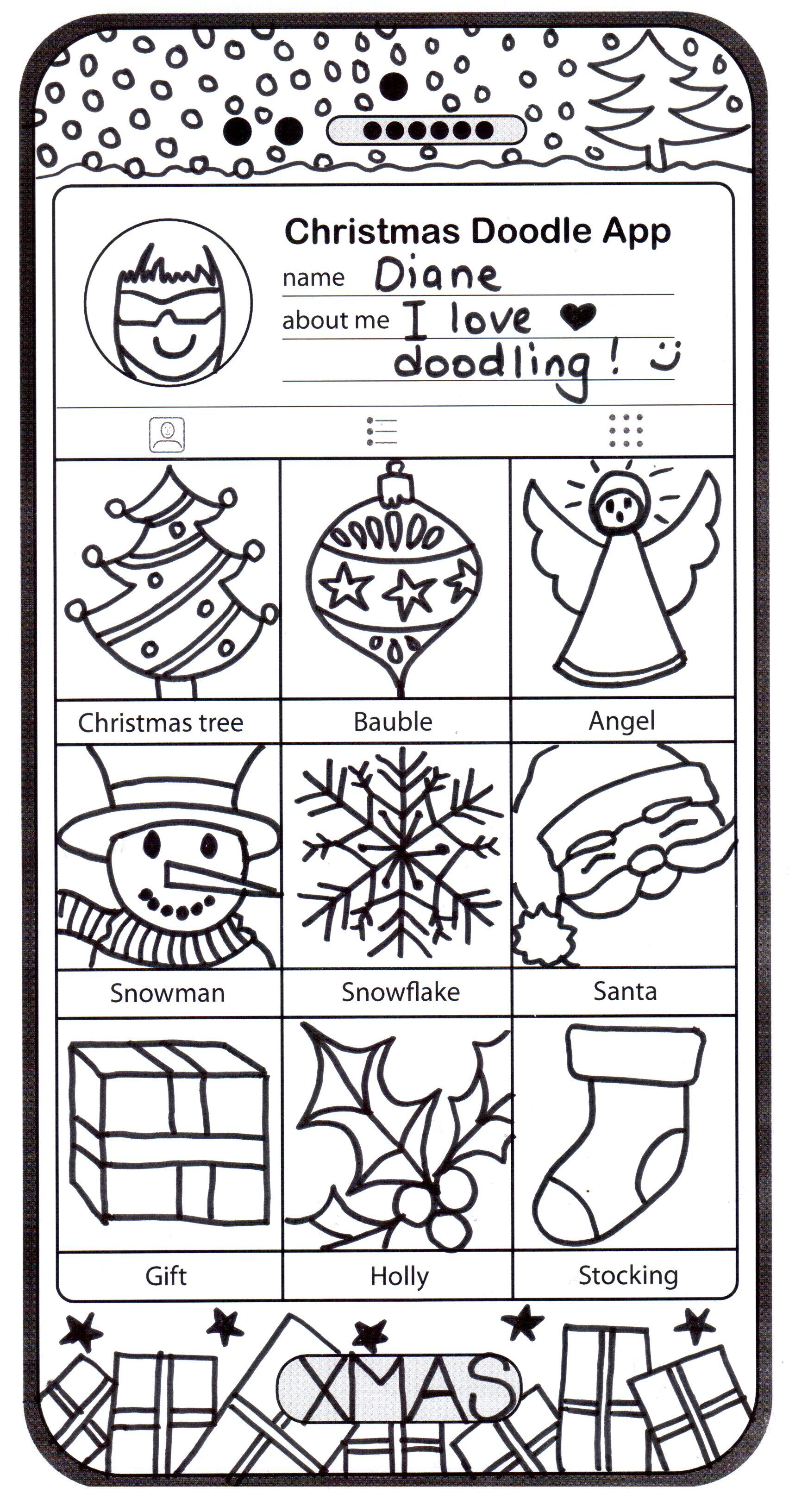 Christmas Coloring Pages Dear Santa Christmas Art Phone