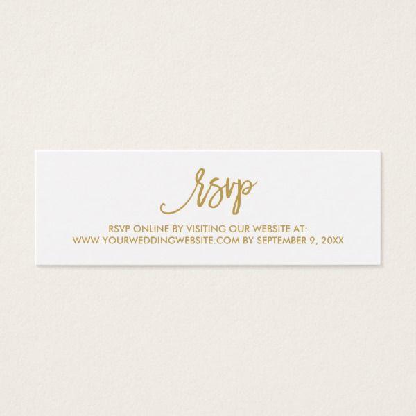 Chic Hand Lettered Wedding RSVP Online Card In 2018 Custom