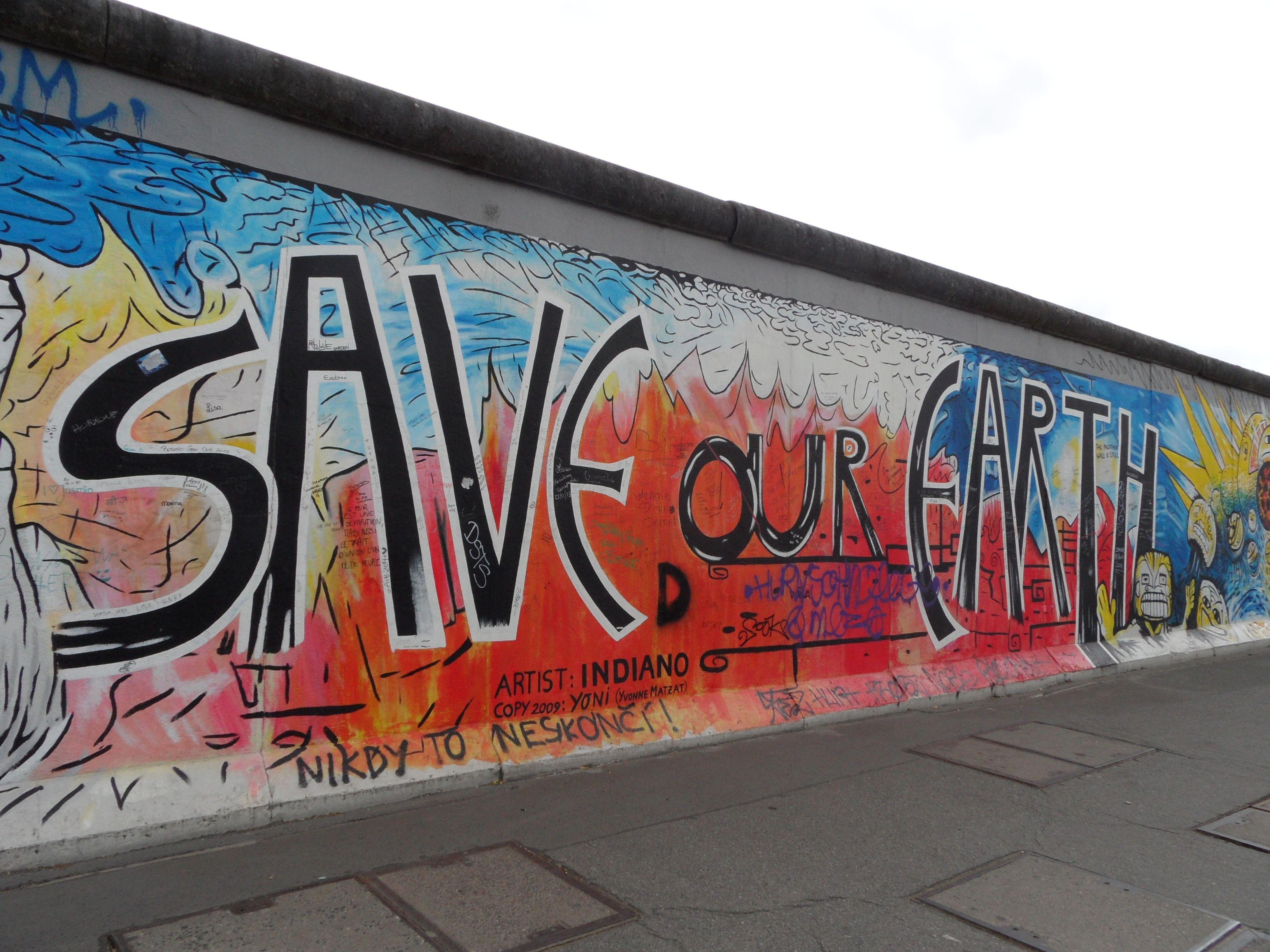 9 Novembre 1989 Save Our Earth Muro Di Berlino Berlino Murales