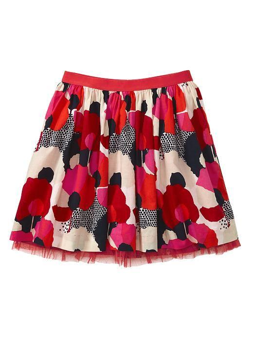 Gap Tulle Floral Flounce Skirt