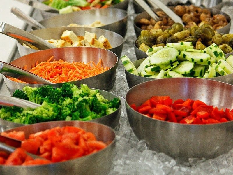 The search for the best supermarket salad bar inside the