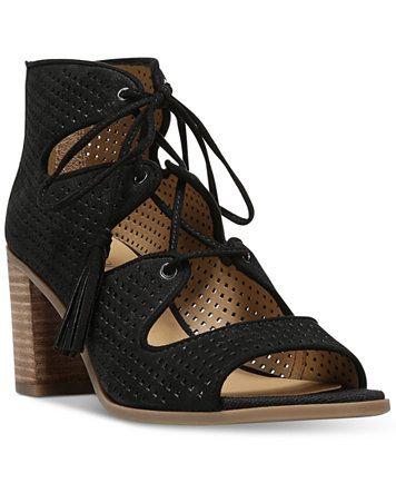 0c3ae6f010e1 Franco Sarto Honolulu Block-Heel Lace-Up Sandals