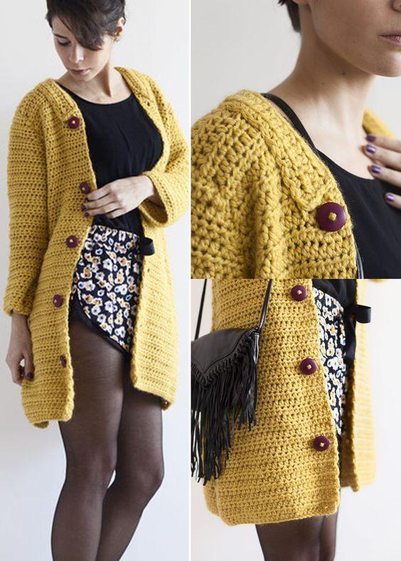casaco..jpg (564×789) | Blazers | Pinterest | Letras, Tejido y ...