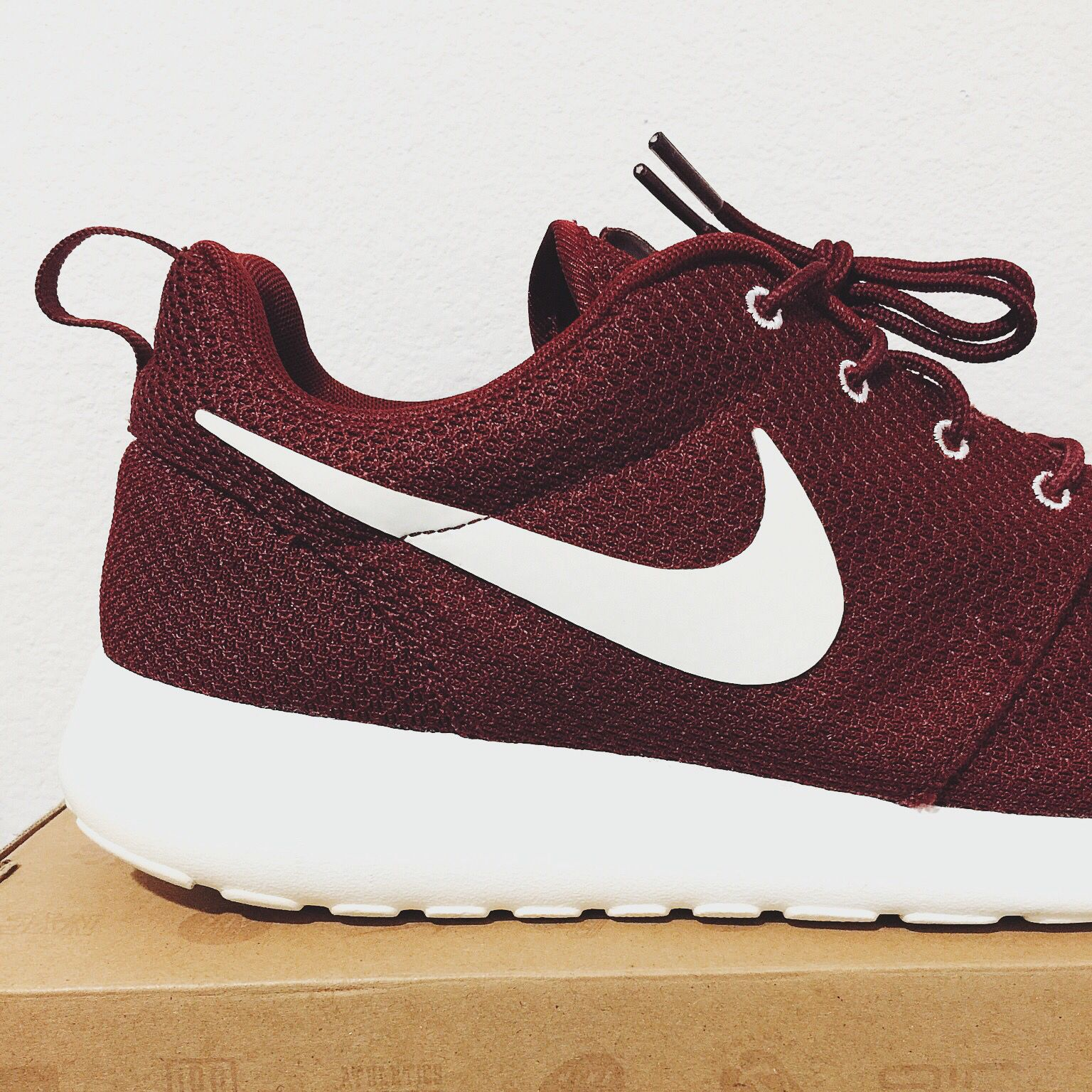 Nike Roshe Run Team Red Sail. Maroon | ~ •Outfits• ~ | Pinterest