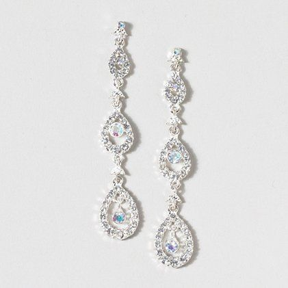 Make Jaws Drop At Prom With Earrings Silver Crystal Ovals Prettylittlepieces