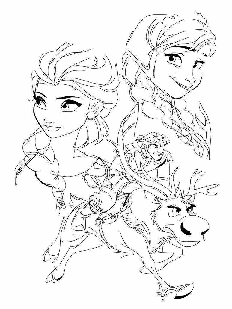 Drawing Frozen Characters Disney Anna Elsa Kristoff And Sven