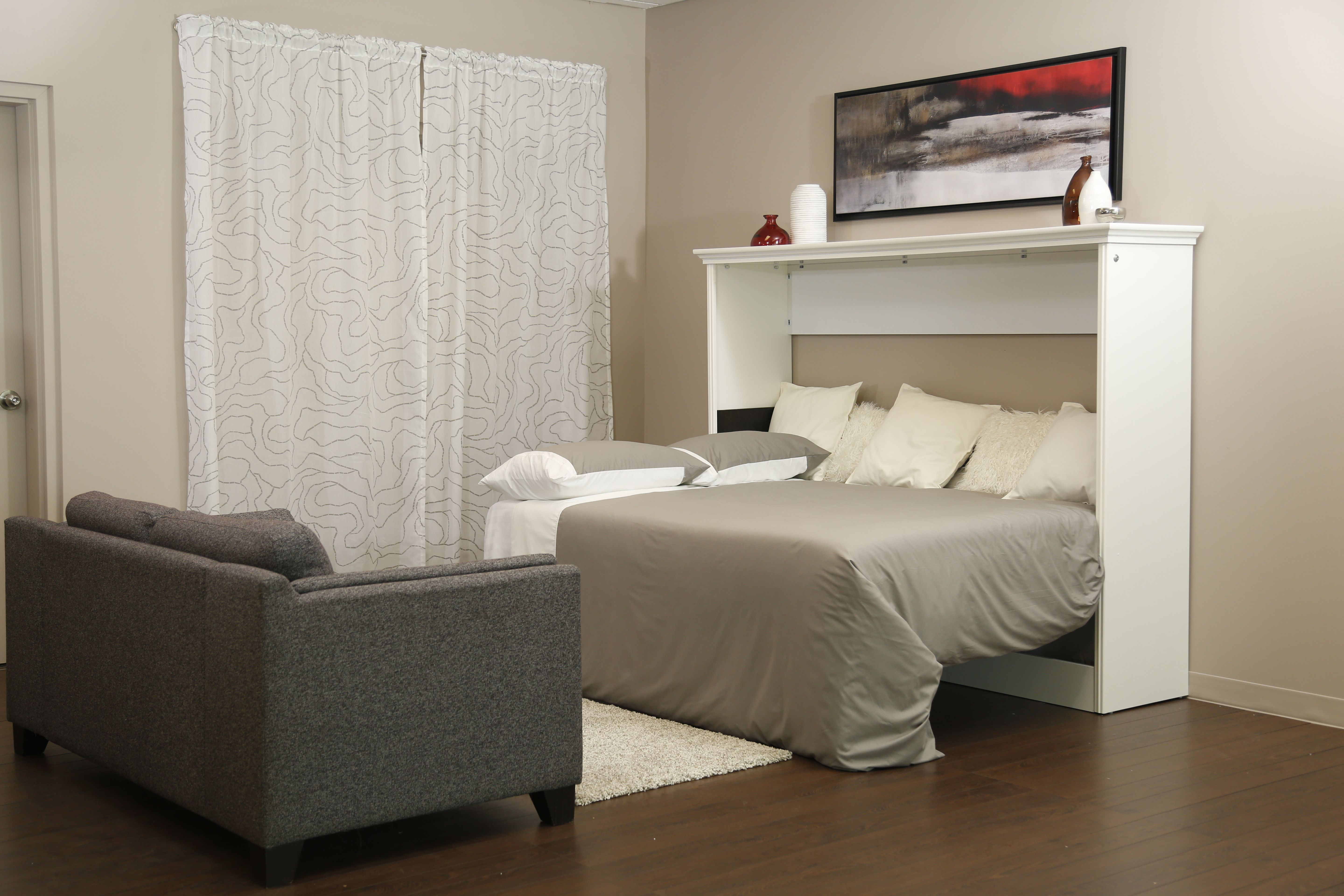 Heres The Allegra Sideways Wall Bed At Night This Stylish