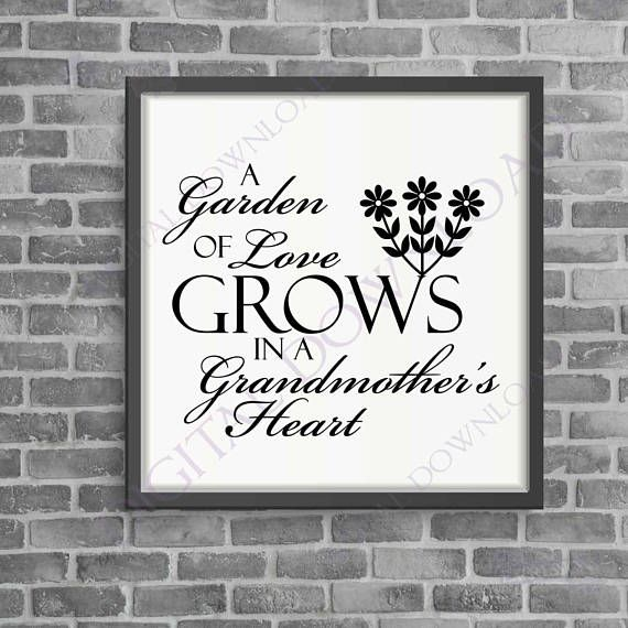 Download Grandmother SVG Quote, Grandma Saying to Print, Garden of ...