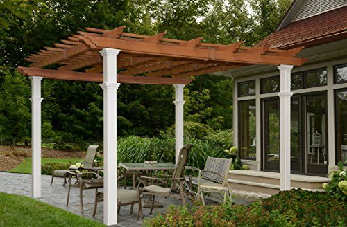 New England Arbors Bordeaux Twotone Pergola 10 By 10 Whitecedar You Can Get Additional Details At The Imag Outdoor Pergola Pergola Patio New England Arbors