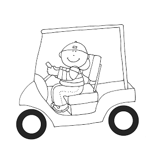 As Requested Boy In Golf Cart Digi Stamps Digital Stamps Colouring Pics