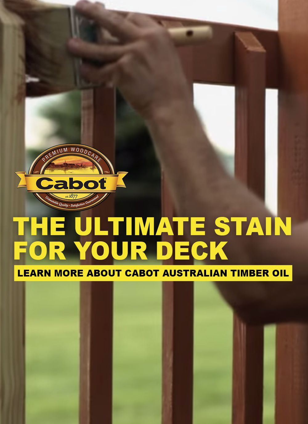 The Only Deck Stain You Ll Ever Need Australian Timber Oil Is Cabot S Finest Wood Stain The Triple Oil Cabot Australian Timber Oil Staining Deck Cabot Stain
