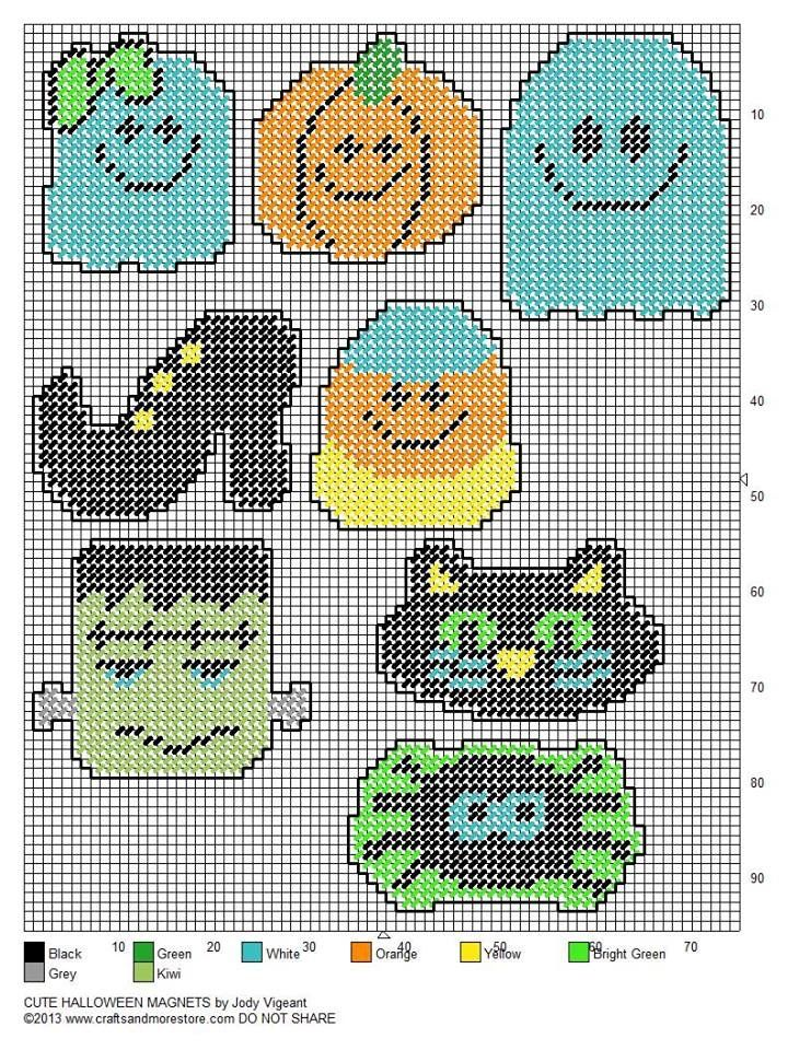 This is a photo of Breathtaking Free Printable Halloween Plastic Canvas Patterns
