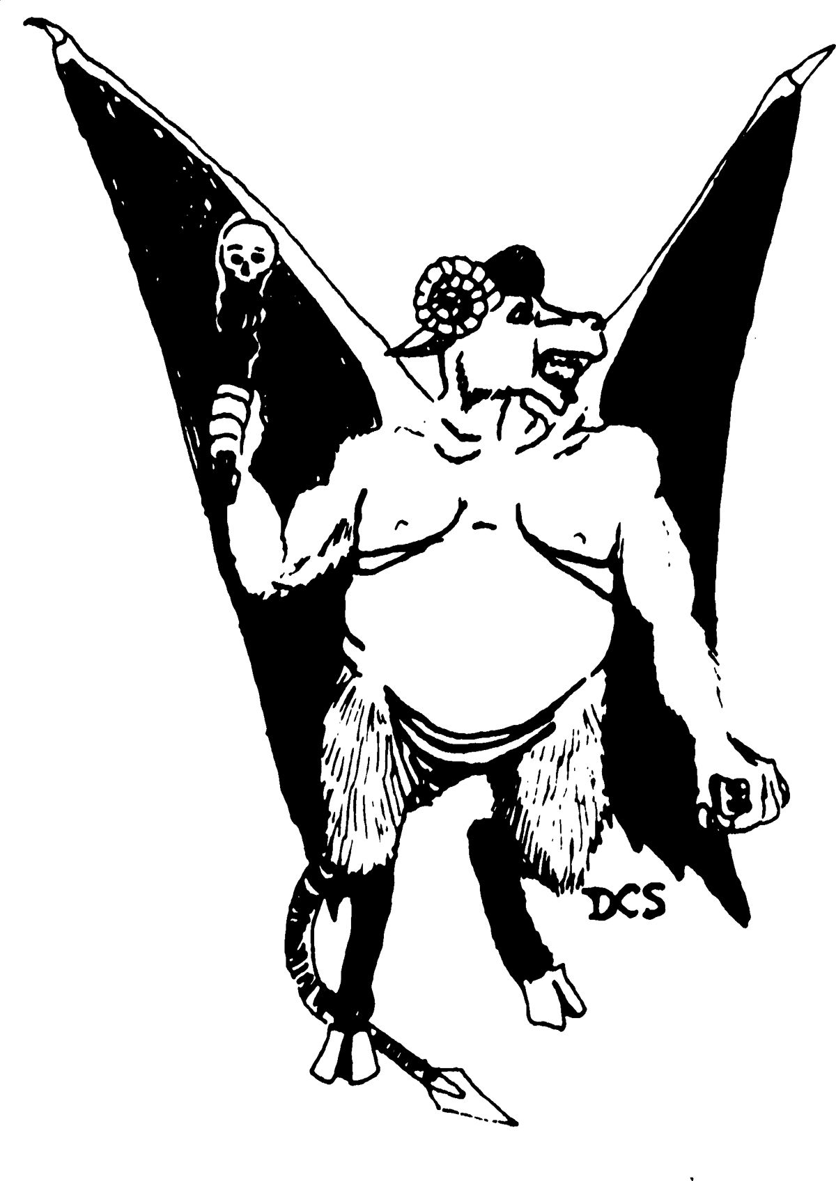 Orcus Prince of the Undead (from the 1st Edition Monster Manual).